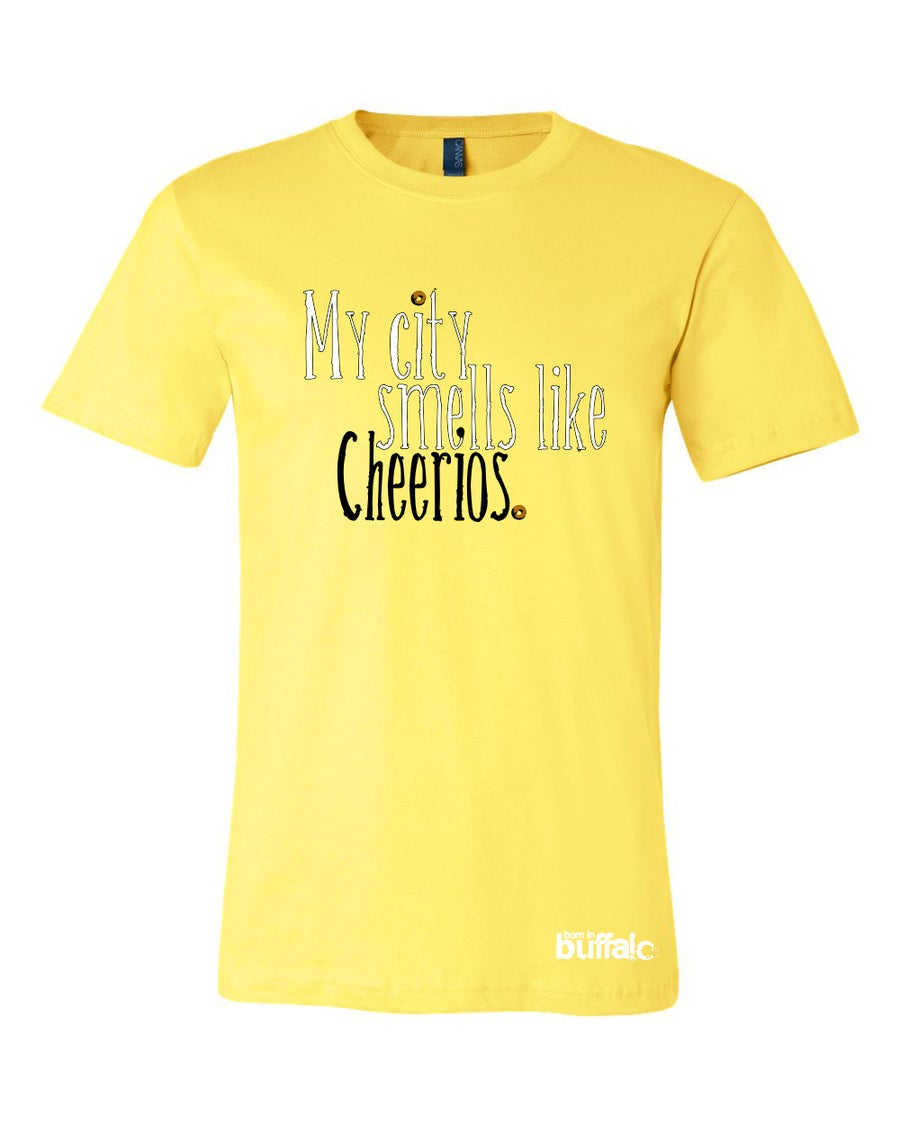Image of My City Smells Like Cheerios Unisex YELLOW