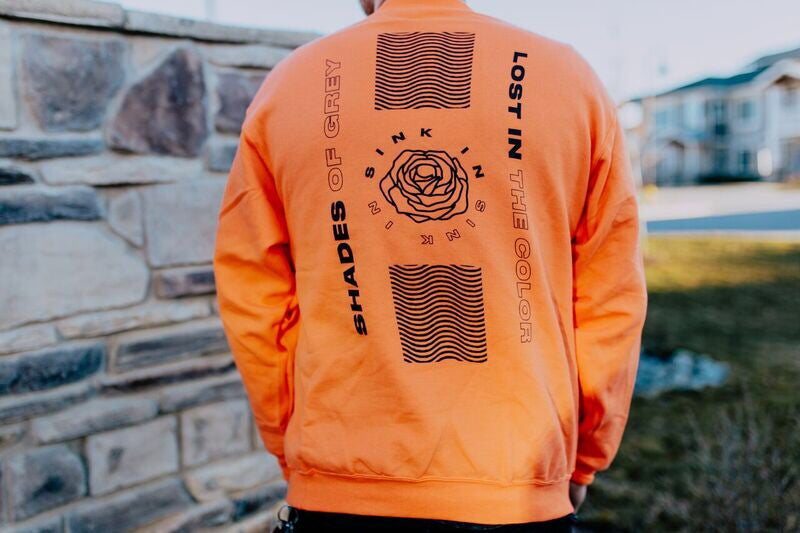Image of Orange Flower Crewneck