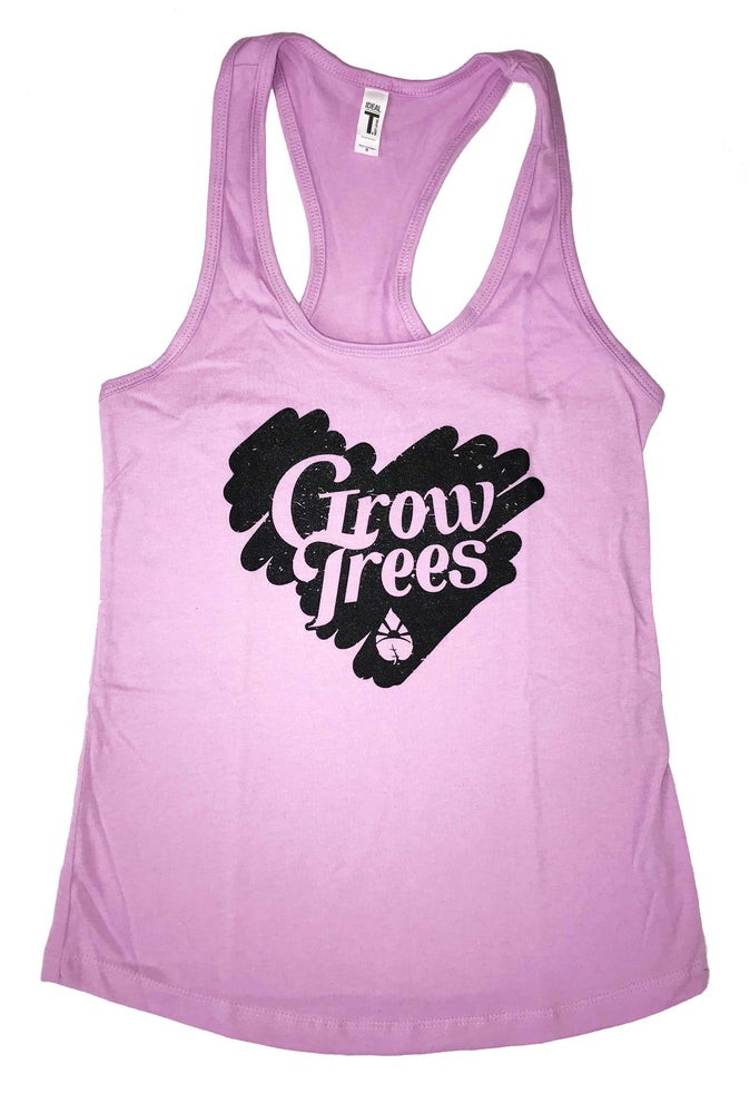 Image of Grow Trees Women's Tank Top (Lavender with Black Heart)