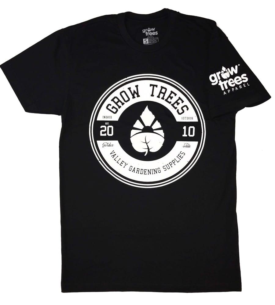 "Image of Grow Trees ""Circle"" Black T-shirt"