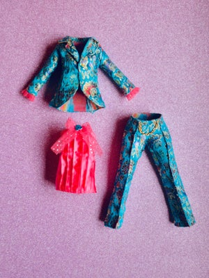 Image of LoungingLinda Brocade Suit Set ~ Turquoise