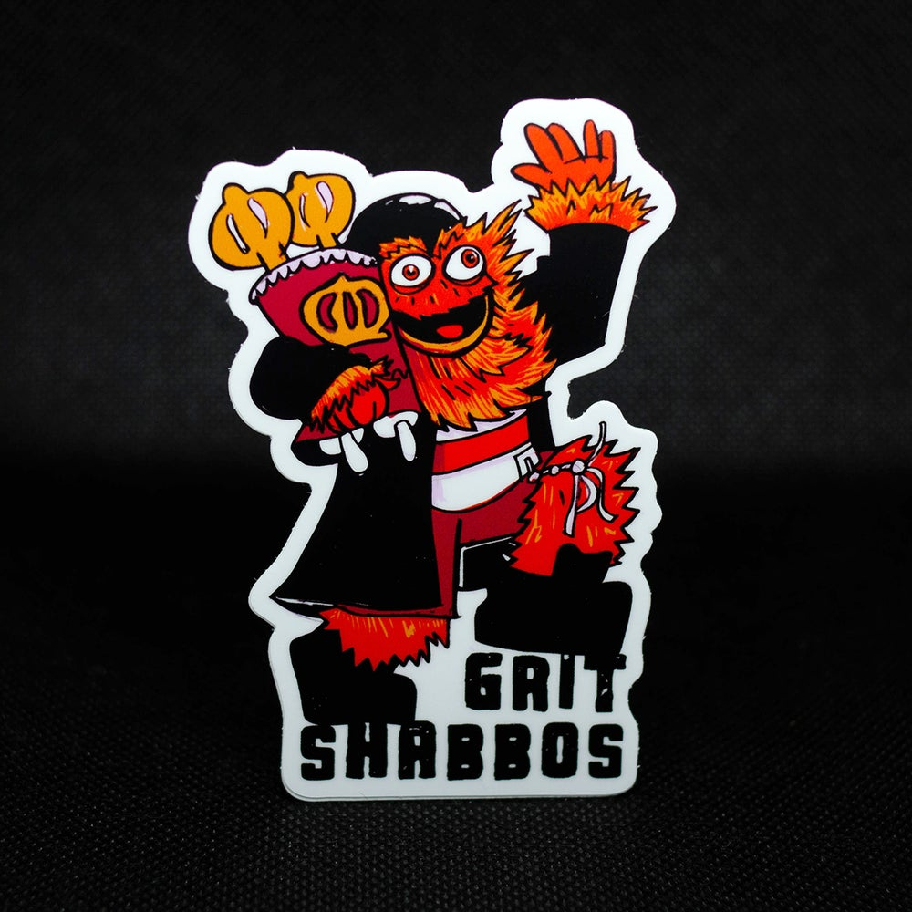 Image of Grit Shabbos sticker