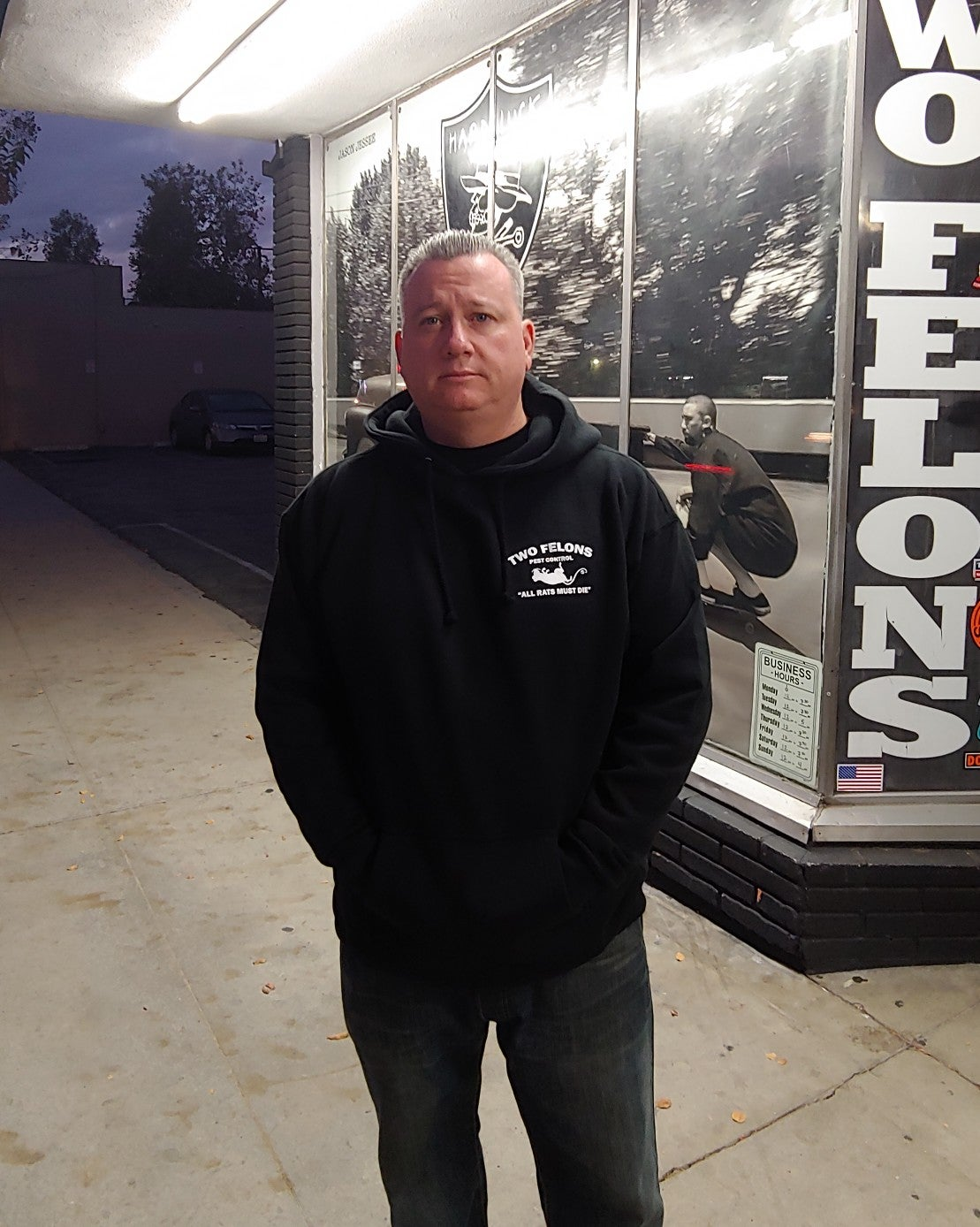 """Two Felons """"Pest Control"""" Pullover Hoody"""