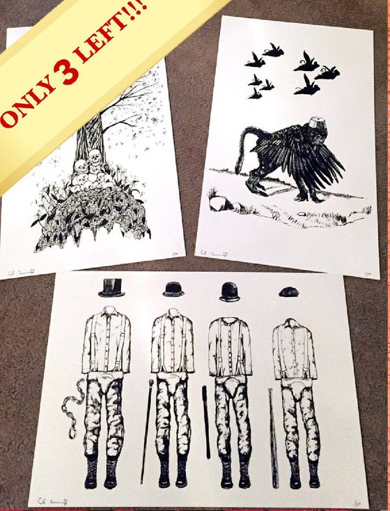 Image of Screen Print Set (3 Print Set) Each Print Limited To 50