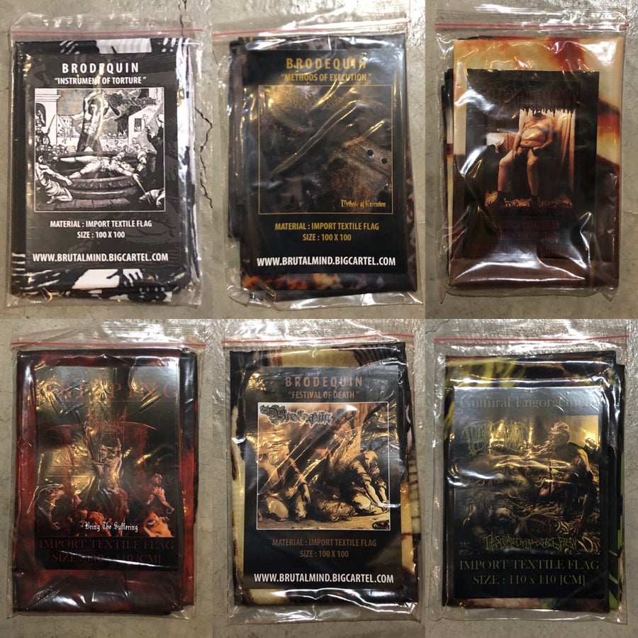 Image of officially Licensed Brodequin, Devourment, Dripping, Guttural Engorgement Flags!!