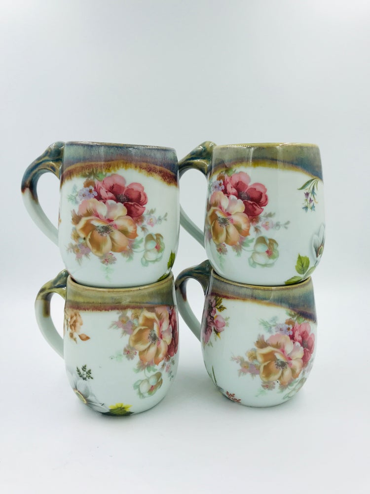 Image of Multicolored Floral Cups