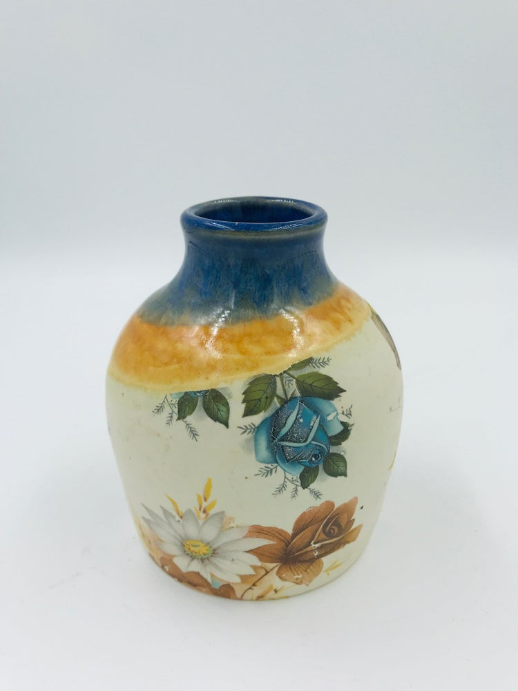 Image of Blue and Yellow Mini Vase