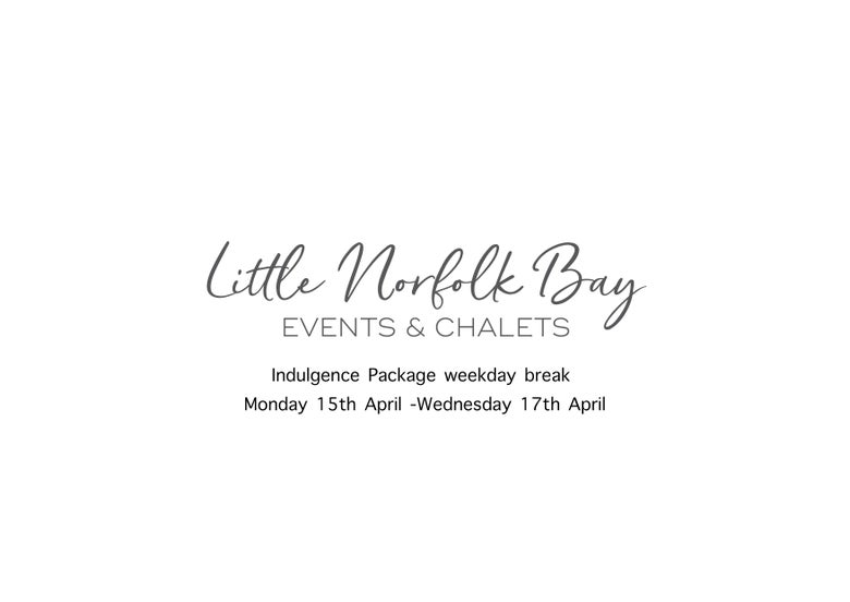 Image of Indulgence package Monday 15th April -Wednesday 17th $680