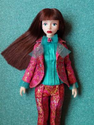 Image of LoungingLinda Brocade Suit Set ~ Magenta