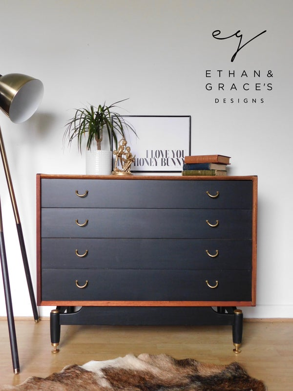 Image of G Plan drawers in teak and black