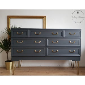 Image of G plan chest of drawers with gold hair legs
