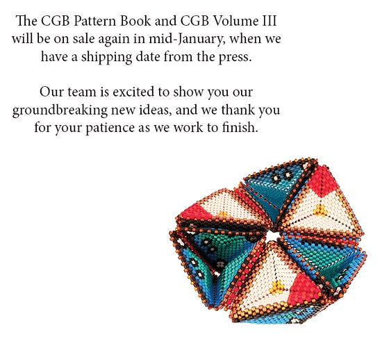 Image of CGB Pattern Book & CGB, Volume III will be on sale again soon, when we have a ship date.