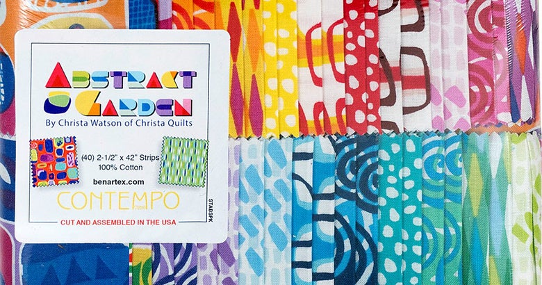 """Image of Abstract Garden Jelly Roll (Strip-pie) 40 - 2 1/2"""" strips"""