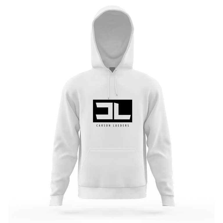 Image of White CL Logo Hoodie