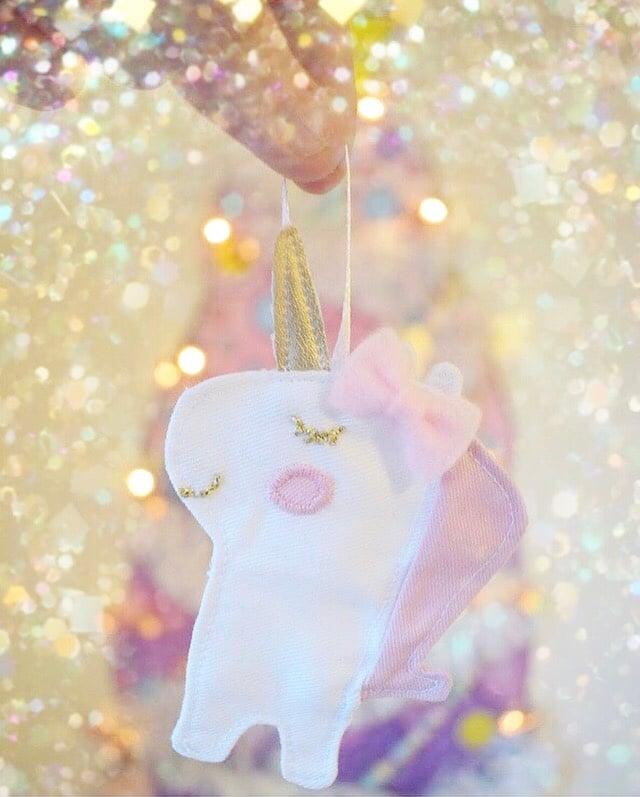 Image of NEW Unicorn Christmas Tree Decoration