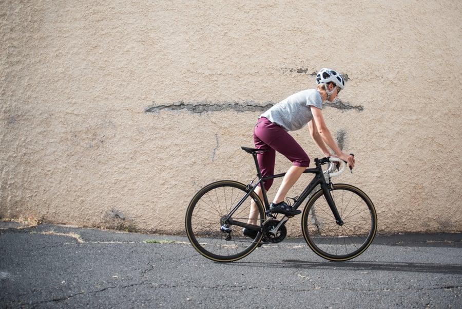 Image of Women's Climber Capri Trousers Burgundy