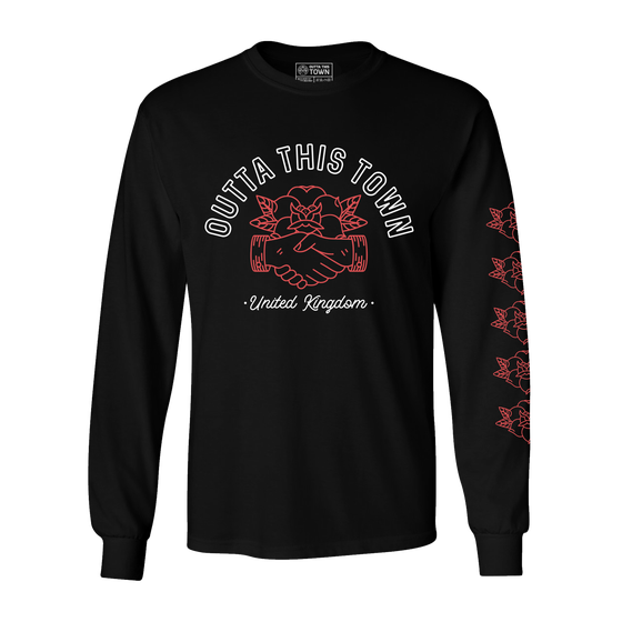 Image of Handshake Long Sleeve T-shirt Black