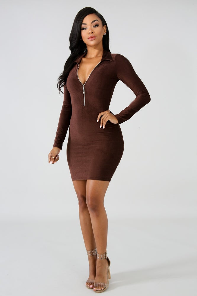 Image of Chocolate bar dress flatline collection