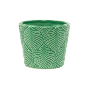 Image of Botanical embossed print pot