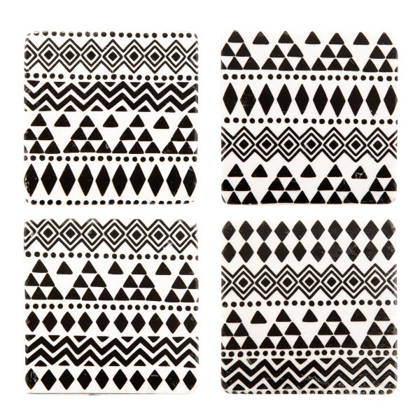 Image of Boho tribal print coasters