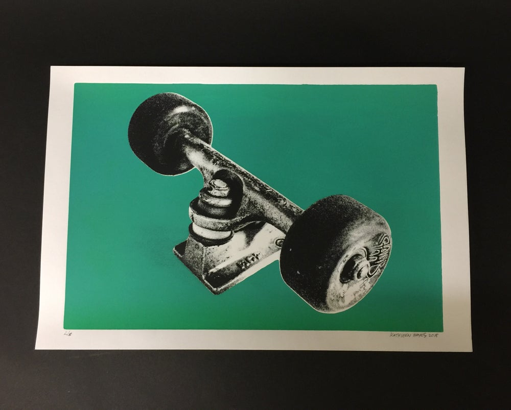 Image of My Ace Trucks - Silk Screen Print, Aqua 2/8