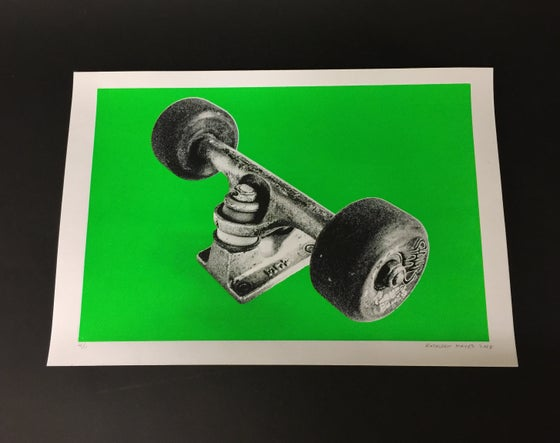 Image of My Ace Trucks - Silk Screen Print, Green 4/11