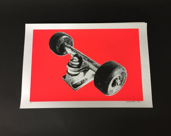 Image of MY ACE TRUCKS - SILK SCREEN PRINT, Bright Red 7/15