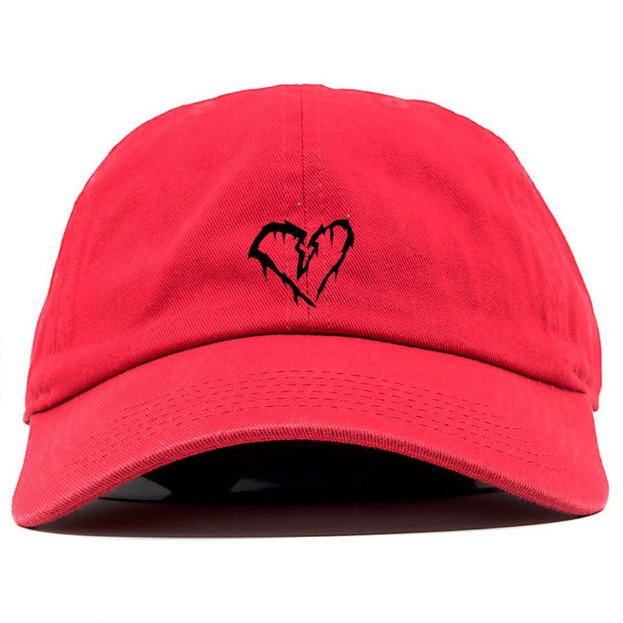 Image of Red Broken Heart Hat