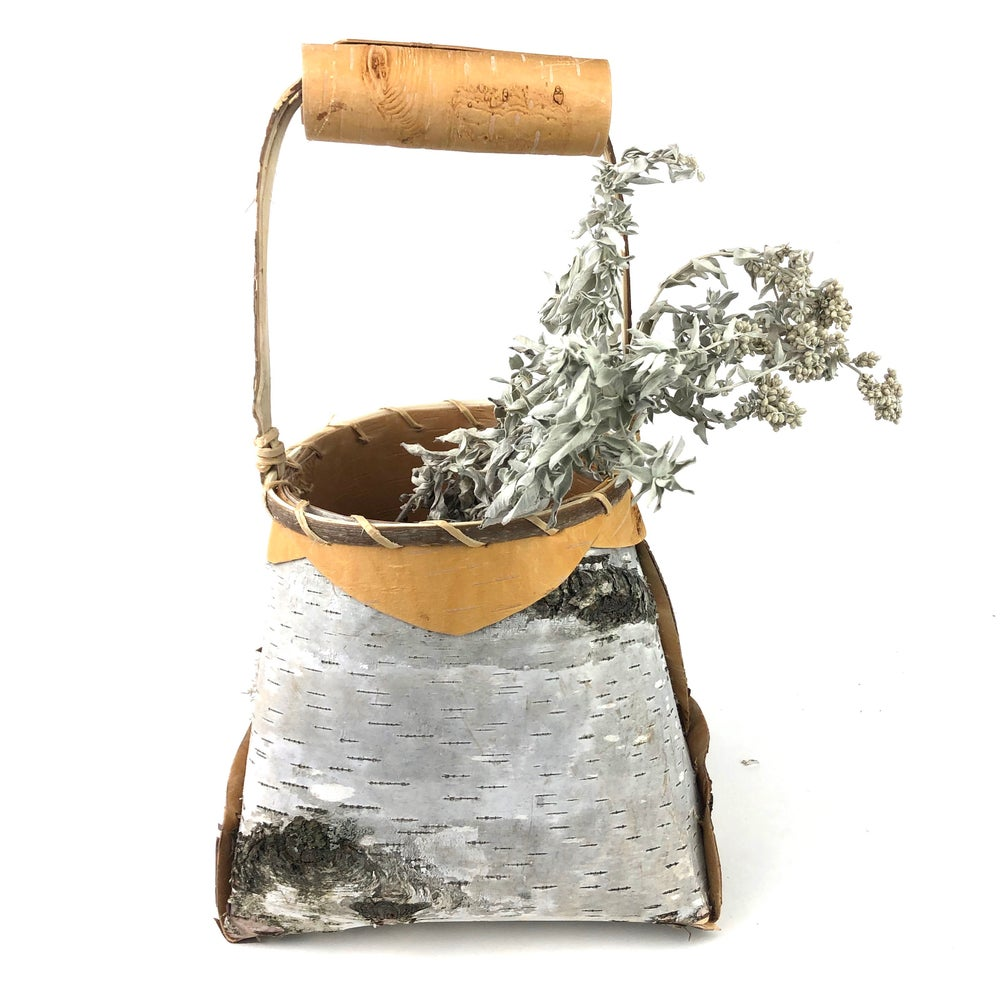 Image of Birchbark Basket with Handle