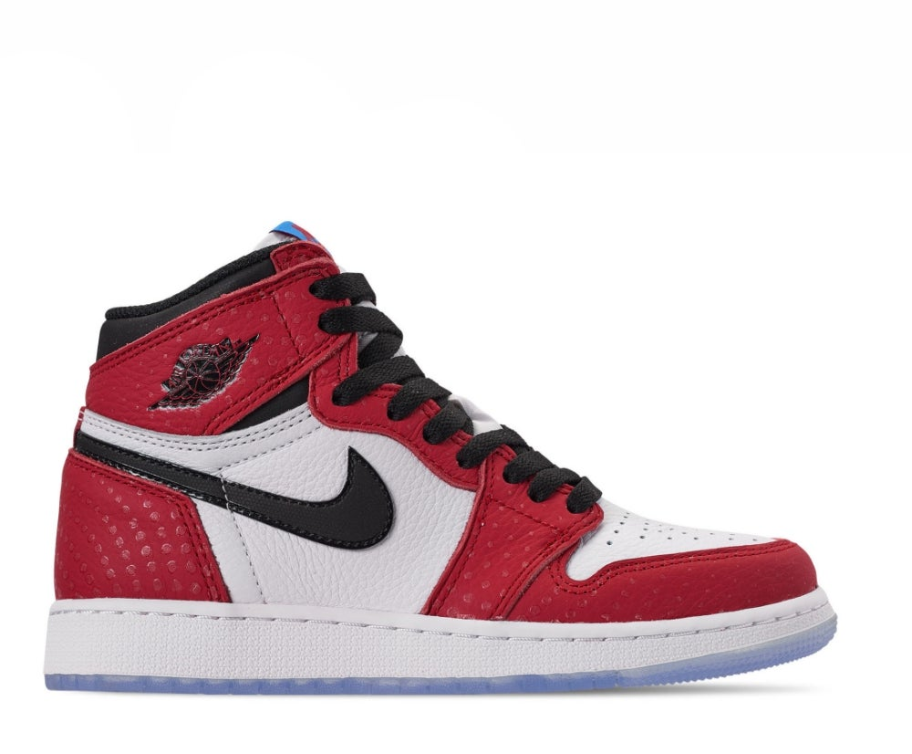 Image of NIKE AIR JORDAN 1 RETRO HIGH SPIDER-MAN ORIGIN STORY 575441-602
