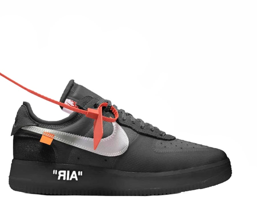 ... Image of NIKE X OFF WHITE AIR FORCE 1 LOW BLACK WHITE AO4606-001 6bb350d46
