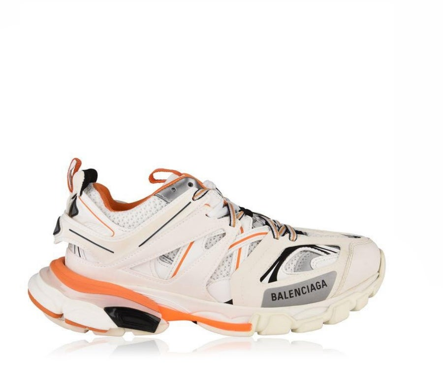 Image of BALENCIAGA TRACK TRAINER WHITE ORANGE 542023W1GB19059