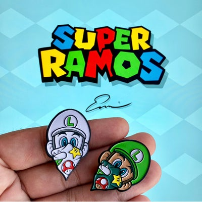 Image of Luigi pin (2 pack)