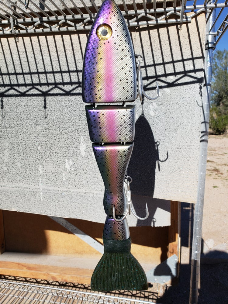 "Image of McCOY MONSTER 15-1/2"" FLOATING CUT TAIL. SCALED PURPLE"