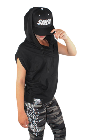 Image of GAL SLEEVELESS HOODIE (extra big hood)