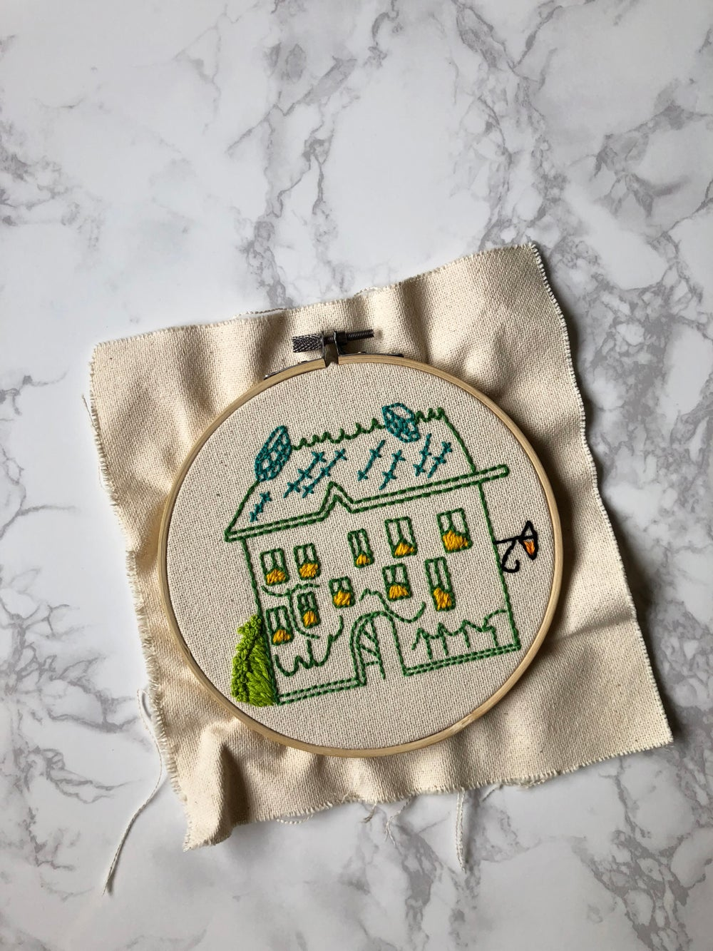 Image of Embroidered Madeline House