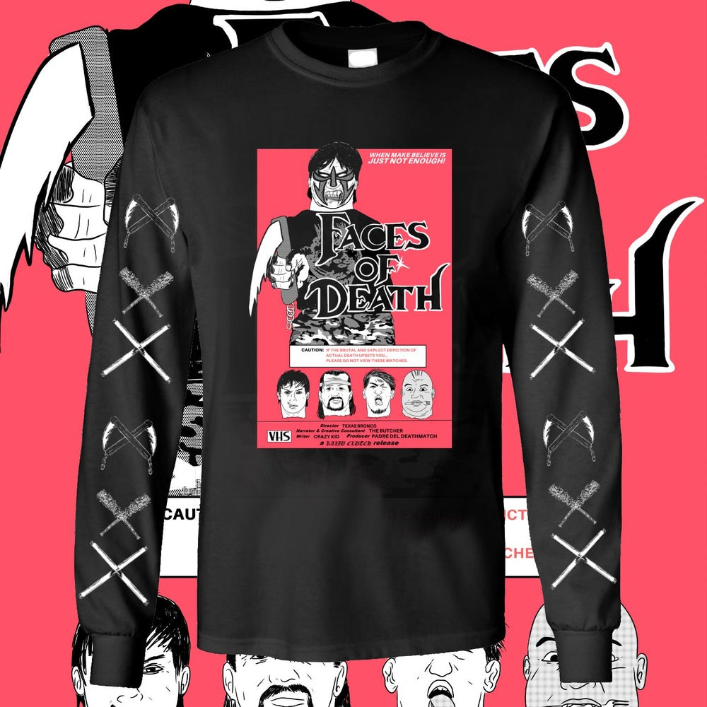 Image of FACES OF DEATHMATCH LONGSLEEVE