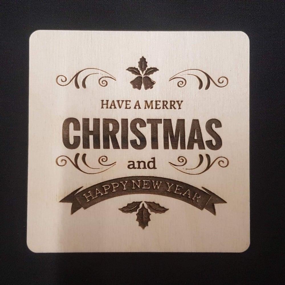 Image of Merry Christmas Coaster Mat Stocking Filler