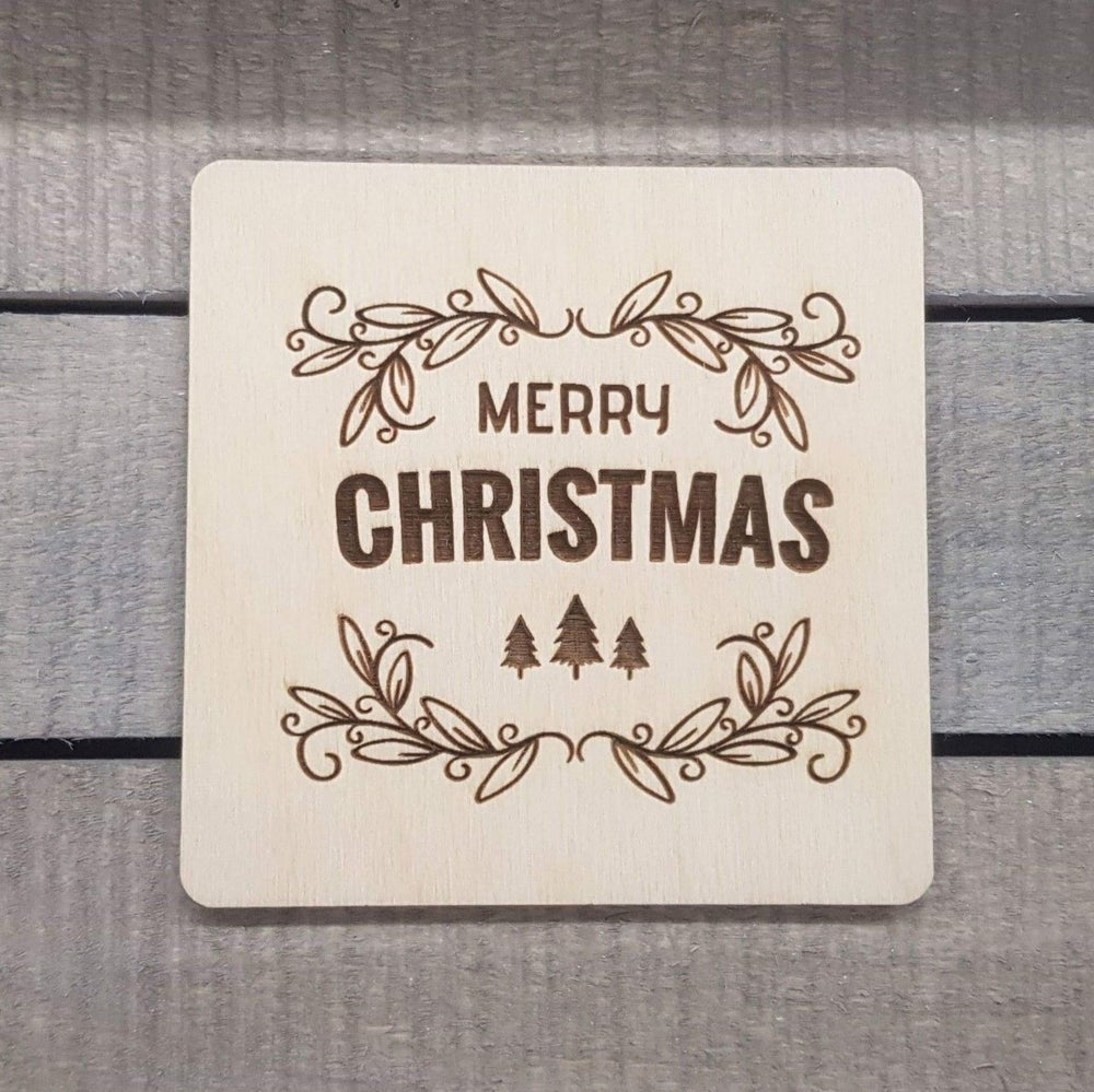 Image of Merry Christmas Coaster Drinks Mat