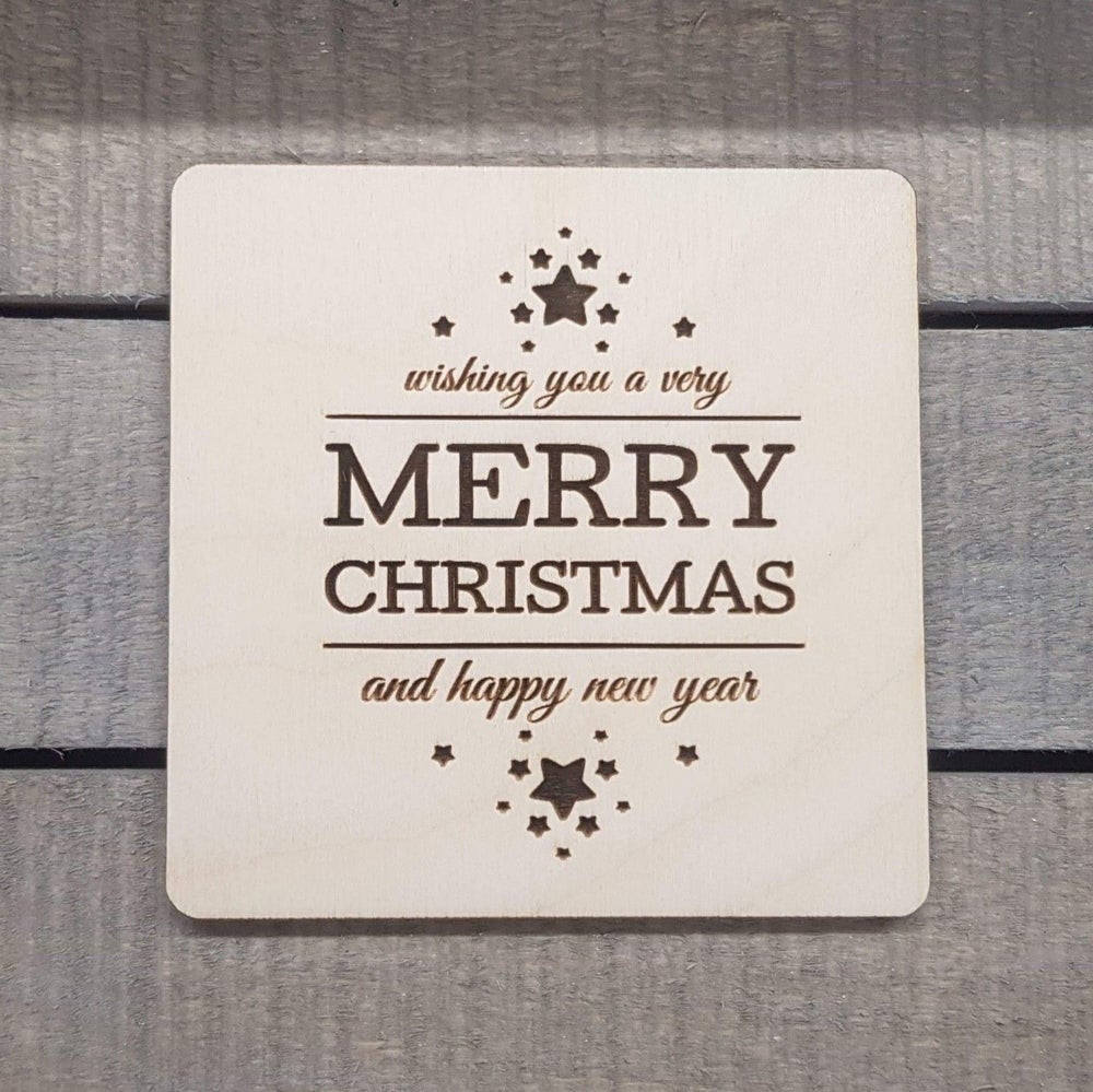 Image of Merry Christmas Coaster Drinks stocking Filler