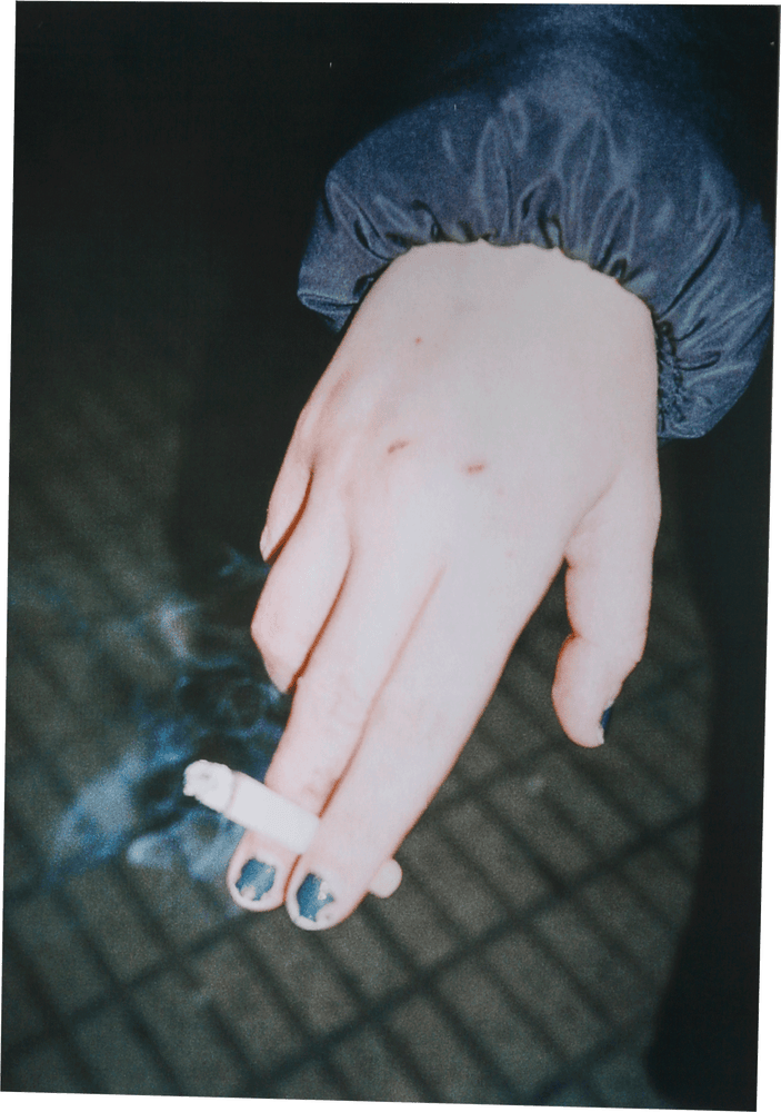 Image of HAPPY HOUR metallic print Collection - Hand Cigarette 45x31cm