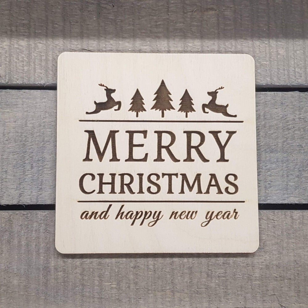 Image of Merry Christmas Beer / Drinks Mat Coaster