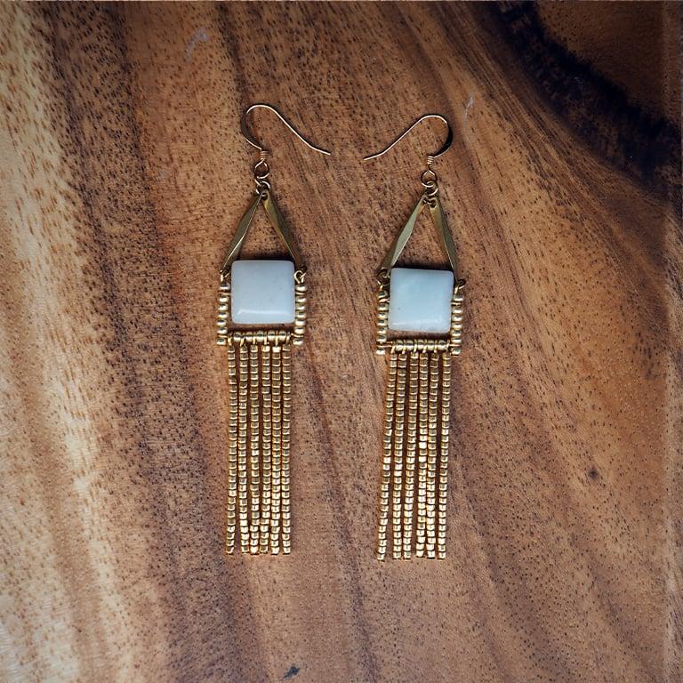 Image of Kula Earrings (Amazonite)