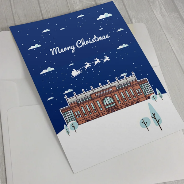 Image of Christmas Cards - Ibrox Stadium in The Snow