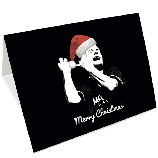 Image of Christmas Cards - Santa Gazza playing his Christmas tunes