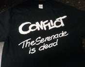 Image of CONFLICT New Year/New Cross gig shirt w/backprint