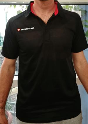 Image of T-shirt adulte 80 ans Tecnifibre noir