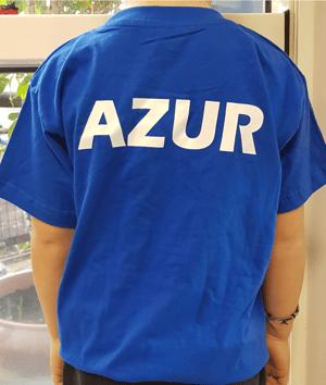 Image of T-shirt floqué Azur sans marque enfant bleu
