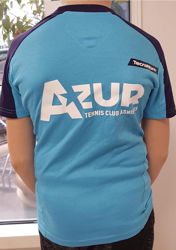 Image of T-shirt Tecnifibre bleu clair adulte
