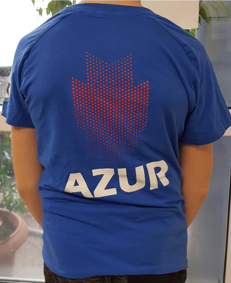 Image of T-shirt Tecnifibre  bleu électrique adultes